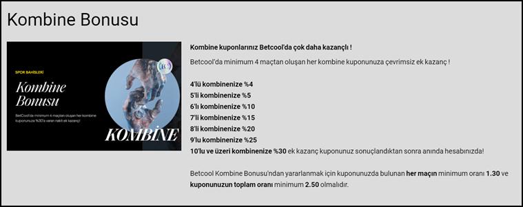 betcool kombine bonus